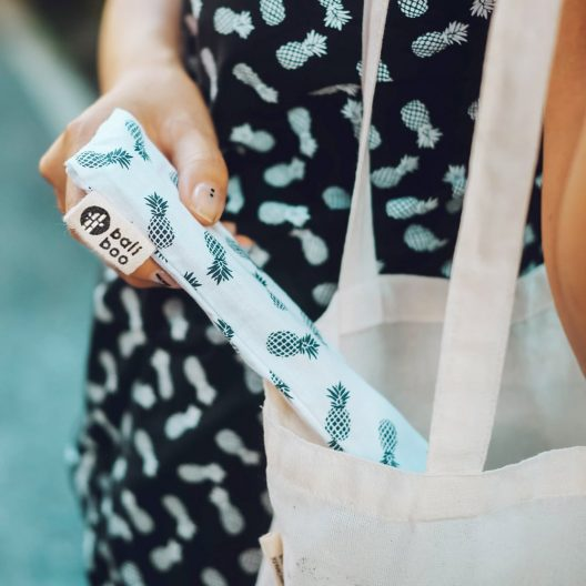 carry pouch made of cotton for bamboo straws