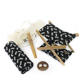 beach headrest-black by Bali Boo