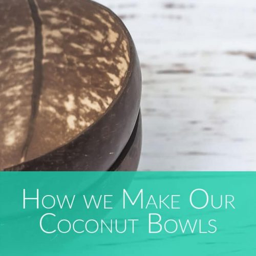 how to make coconut bowls by Bali Boo