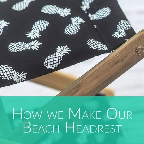 how we make our beach headrest- Bali Boo