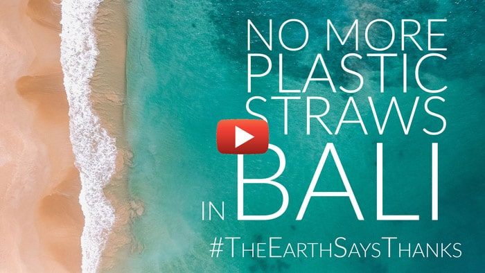 Video Link for #TheEarthSaysThanks Project - giving away natural alternatives to plastic straws
